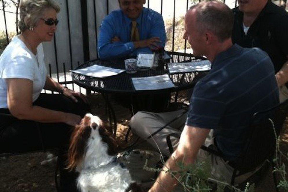 The Houston mayor celebrates dog-friendly patios.