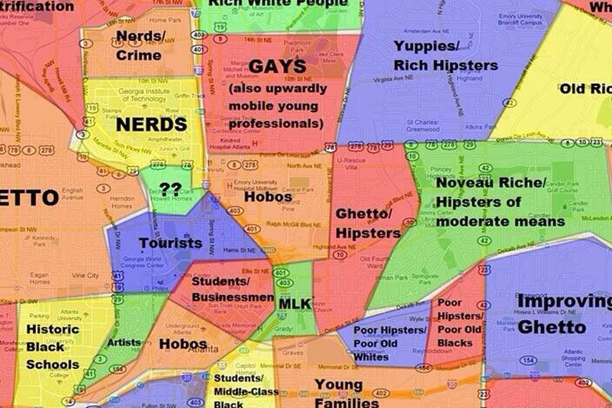 This Atlanta Map Will Offend Pretty Much Everyone Curbed Atlanta
