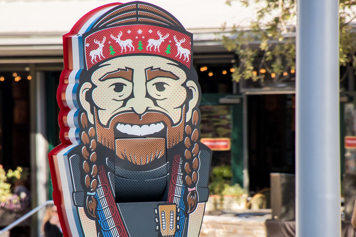 Holiday statue of Willie Nelson rendered as Nutcracker