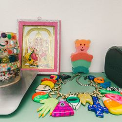 """""""Stationery-type things start at $6. And then the average single charm is $24. Sometimes I do full necklaces and those are around $300, but it depends on how many charms are on them. And then a single charm on a necklace is around $30."""""""