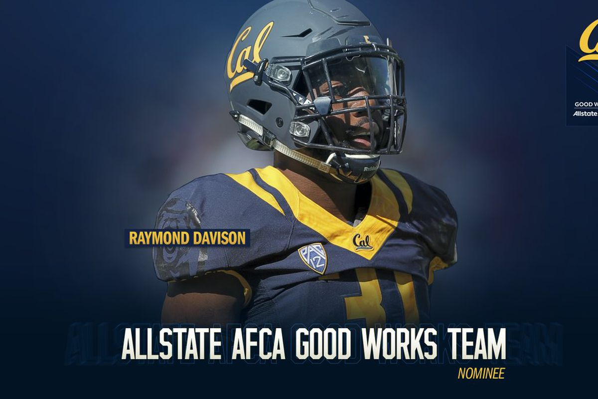 the best attitude 7fb75 85436 Cal LB Ray Davison nominated for Good Works team ...