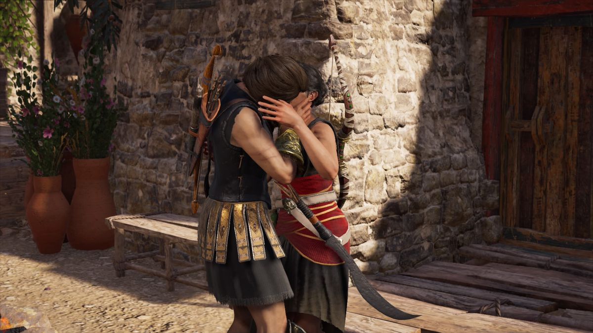 Assassin's Creed Odyssey - Kassandra and Odessa Kissing