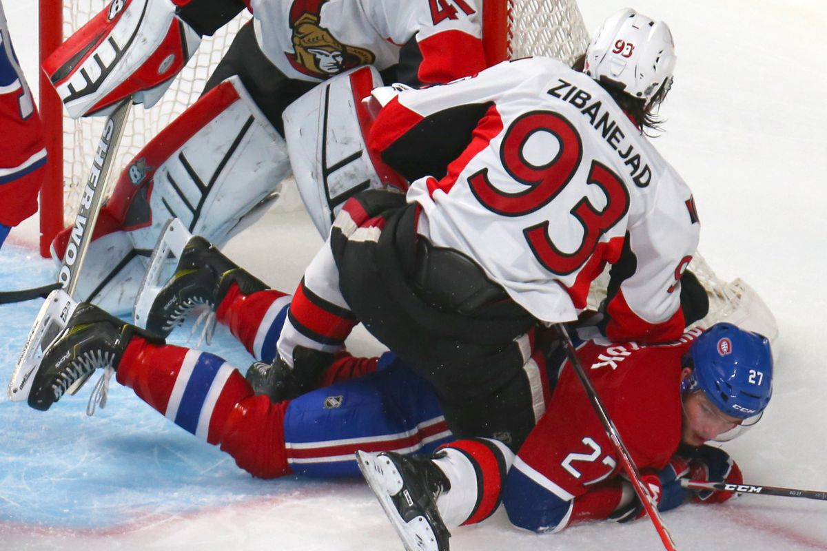Zibanejad doesn't quite understand the role of defensive centre yet.