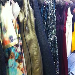 A look at the glittery dresses