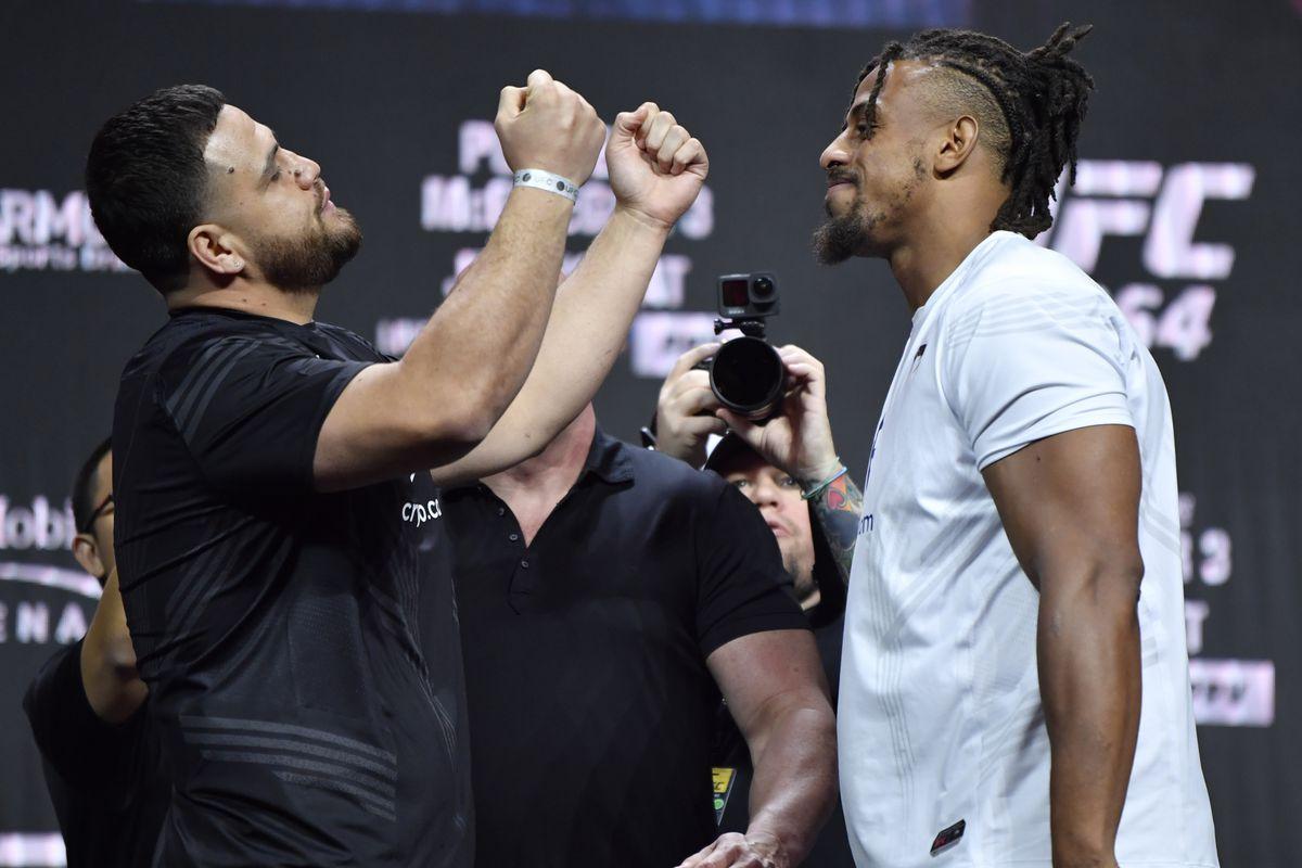 Tai Tuivasa and Greg Hardy at UFC 264