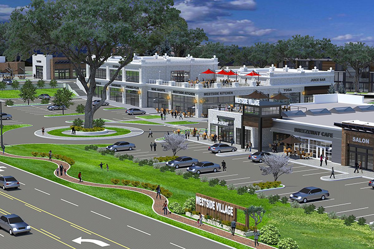 A new shopping center planned for Atlanta's Westside on Moores Mill Road.