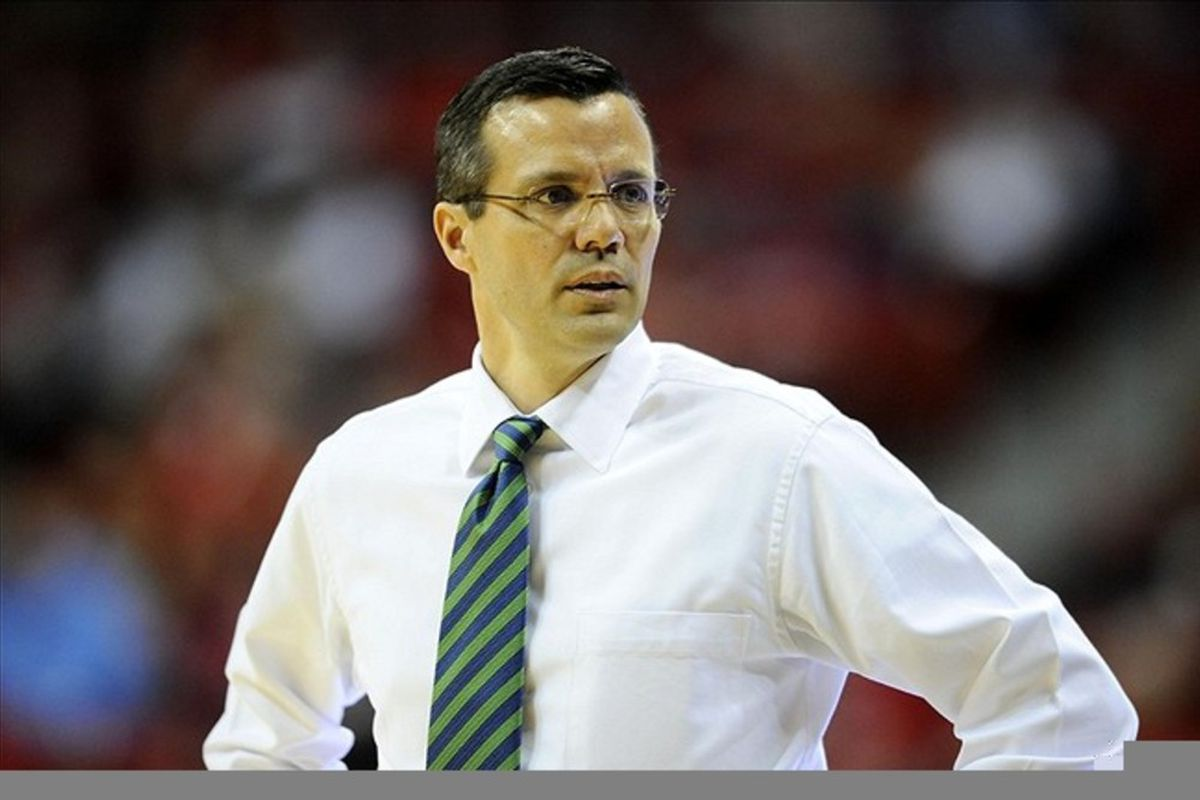 Tim Miles will trade this awful green tie for a hopefully less awful red one in his new gig as head coach at Nebraska. Mandatory Credit: Ron Chenoy-US PRESSWIRE