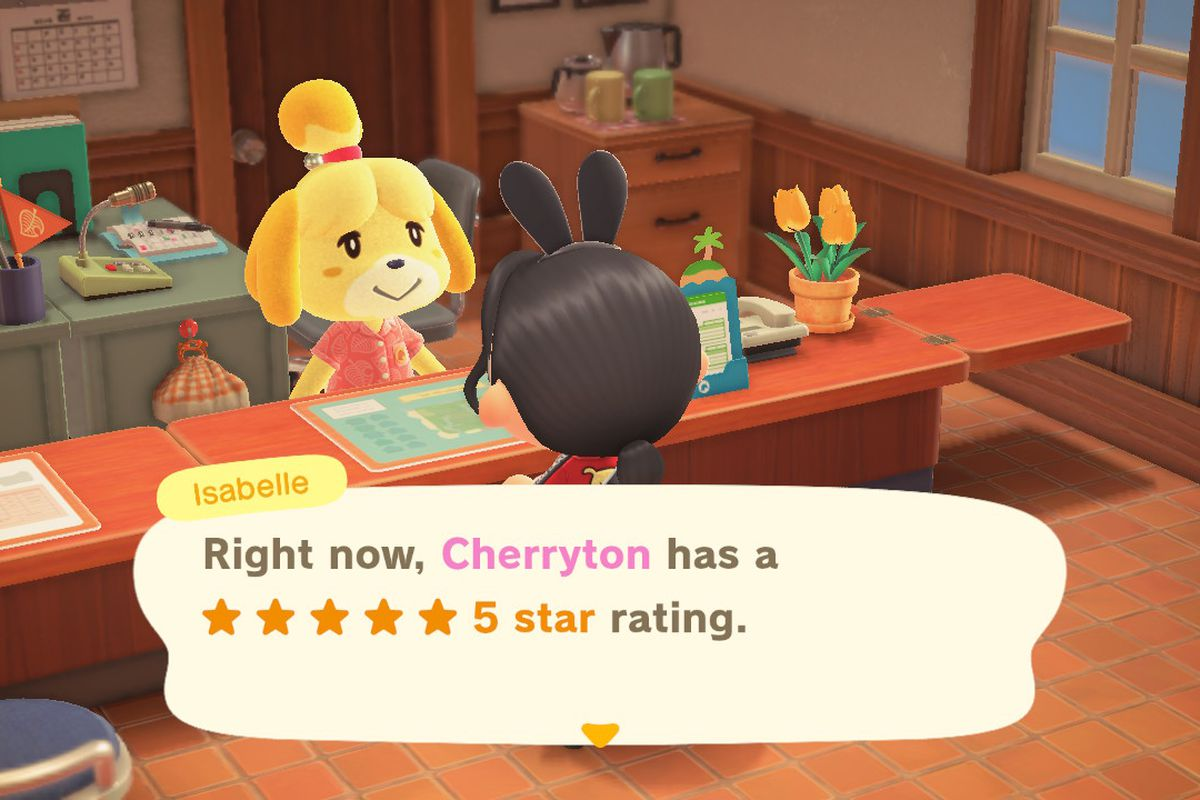 Isabelle says that Cherryton island has a five-star rating