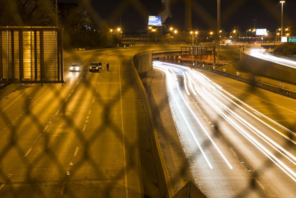 A man was shot Sunday night on the Kennedy Expressway near Wilson Avenue.   Tyler Lariviere/Sun-Times