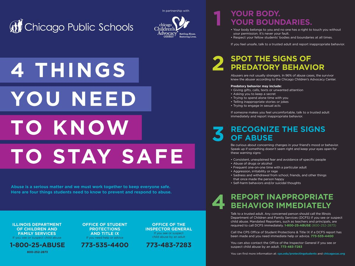 New posters are part of a CPS campaign to boost awareness of sexual misconduct.