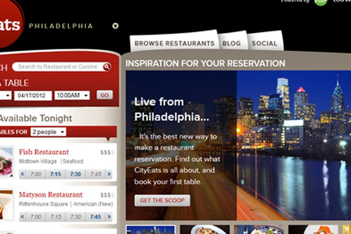 CityEats Takes On OpenTable In Philly Eater Philly - What is open table reservation