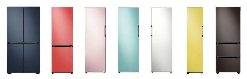 Multi-colored refrigerators
