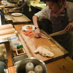Angela Majko, 32 (2 1/5 years of service), Sushi Chef, Uchiko, Austin [Photo by Rebecca Fondren]