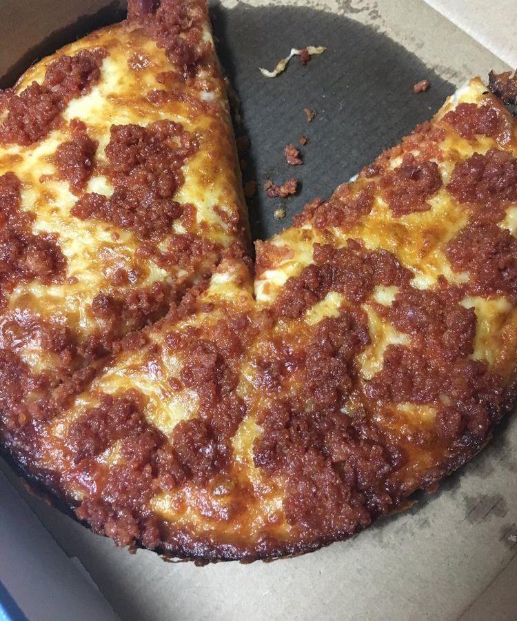 "Chorizo pizza at <span data-author=""4336141"">Cuban Sylvain Bakery </span>"