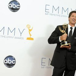 Director Steven Levitan, winner Outstanding Directing for a Comedy Series for 'Modern Family,' backstage at the 64th Primetime Emmy Awards at the Nokia Theatre on Sunday, Sept. 23, 2012, in Los Angeles.