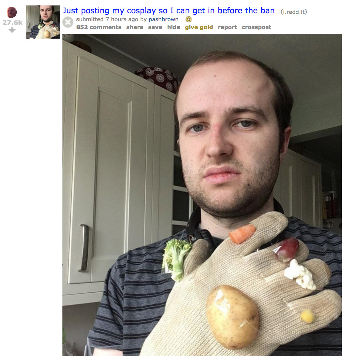 Thanos Reddit ban gets bad cosplay, tattoo promises and Hawkeye