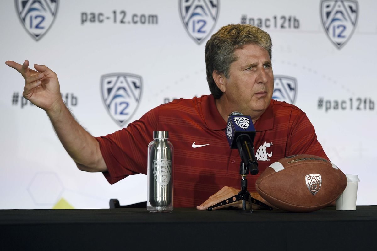 Mike Leach has words and he will share them with us.