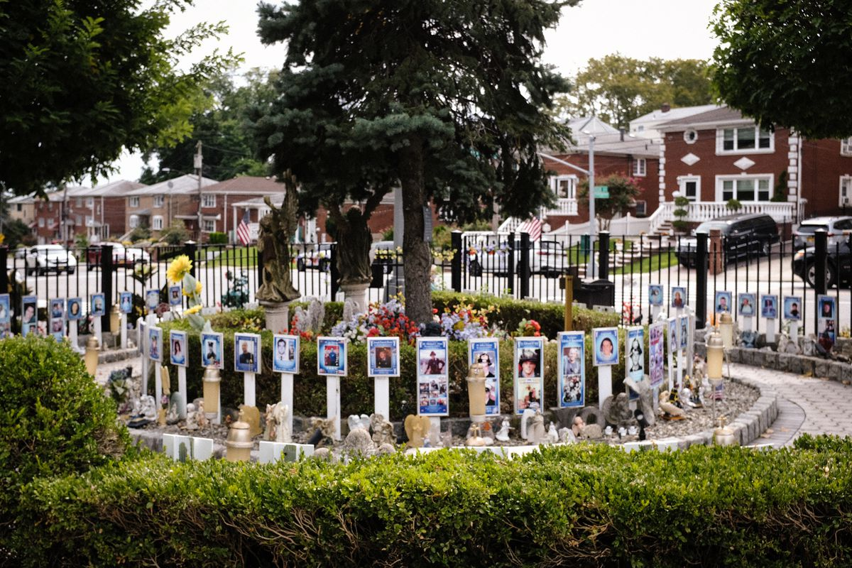 Wendy Pellegrino created Angels' Circle in the Concord section of Staten Island to have a place for people to remember and see loved ones lost on 9/11.