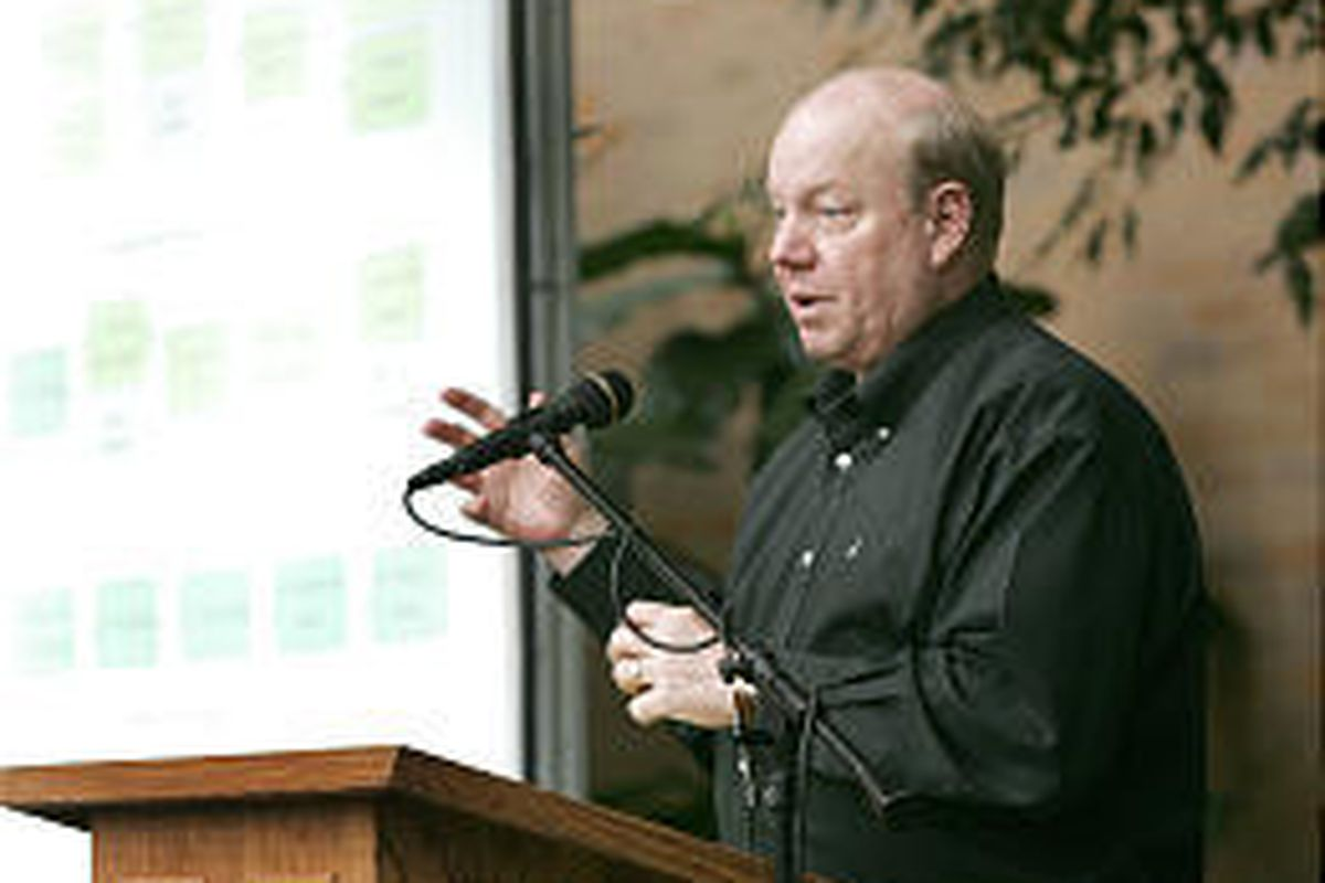 Larry H. Miller talks to the LDS International Society Monday about the Joseph Smith Papers Project, aimed at boosting worldwide exposure of the LDS leader.