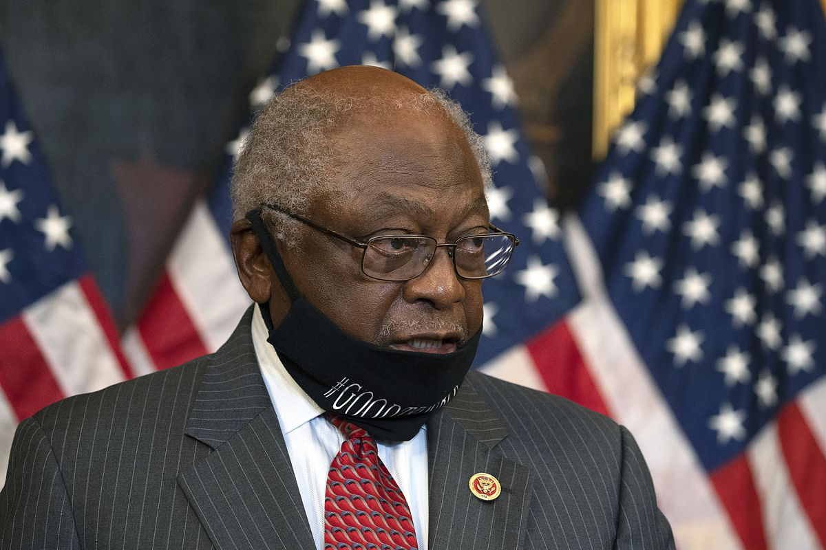 U.S. House Majority Whip and subcommittee chairman Rep. James Clyburn (D-SC) speaks at a news conference in September in Washington, DC.