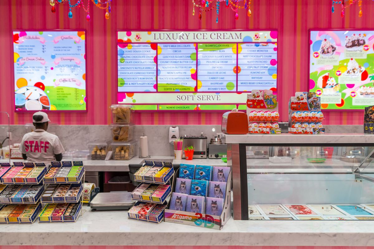The counter at Sloan's Ice Cream