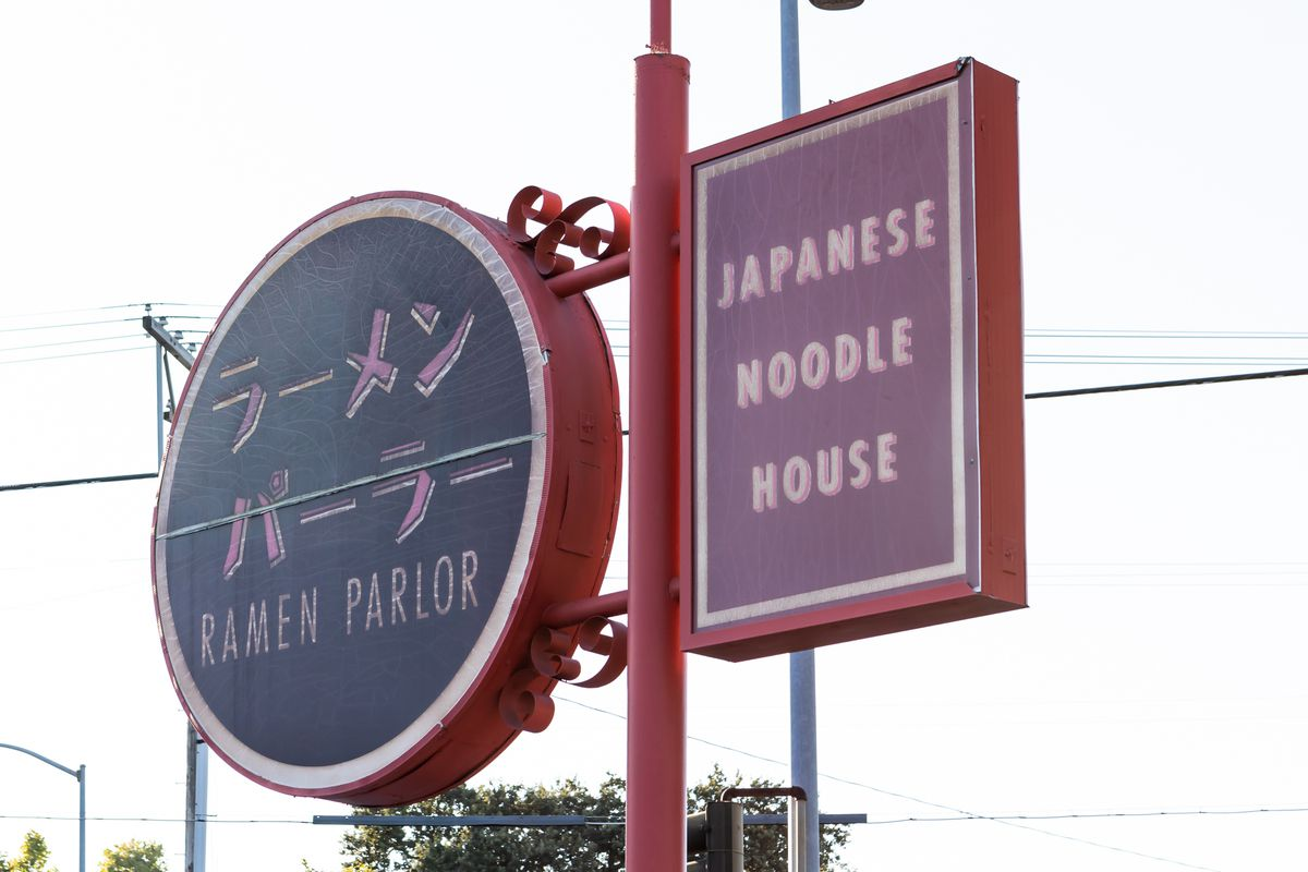The sign for Ramen Parlor