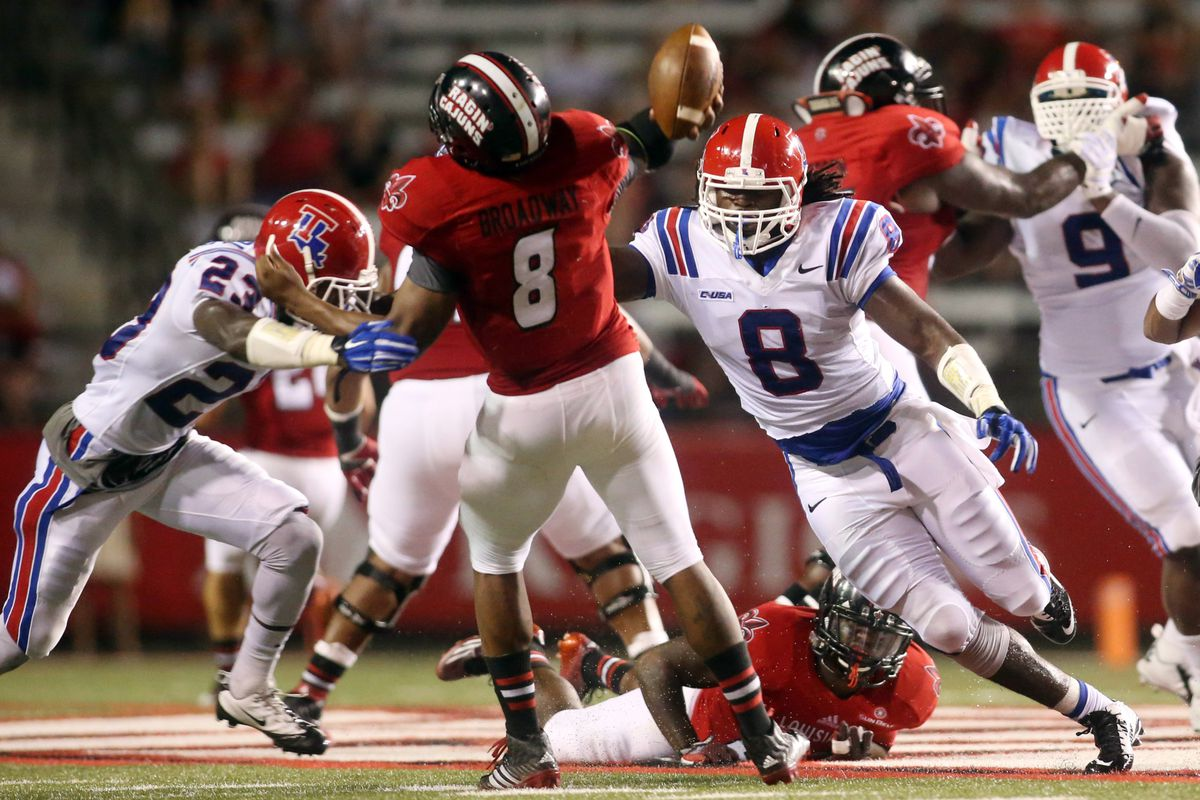 Louisiana Tech was able to put pressure on Terrance Broadway.