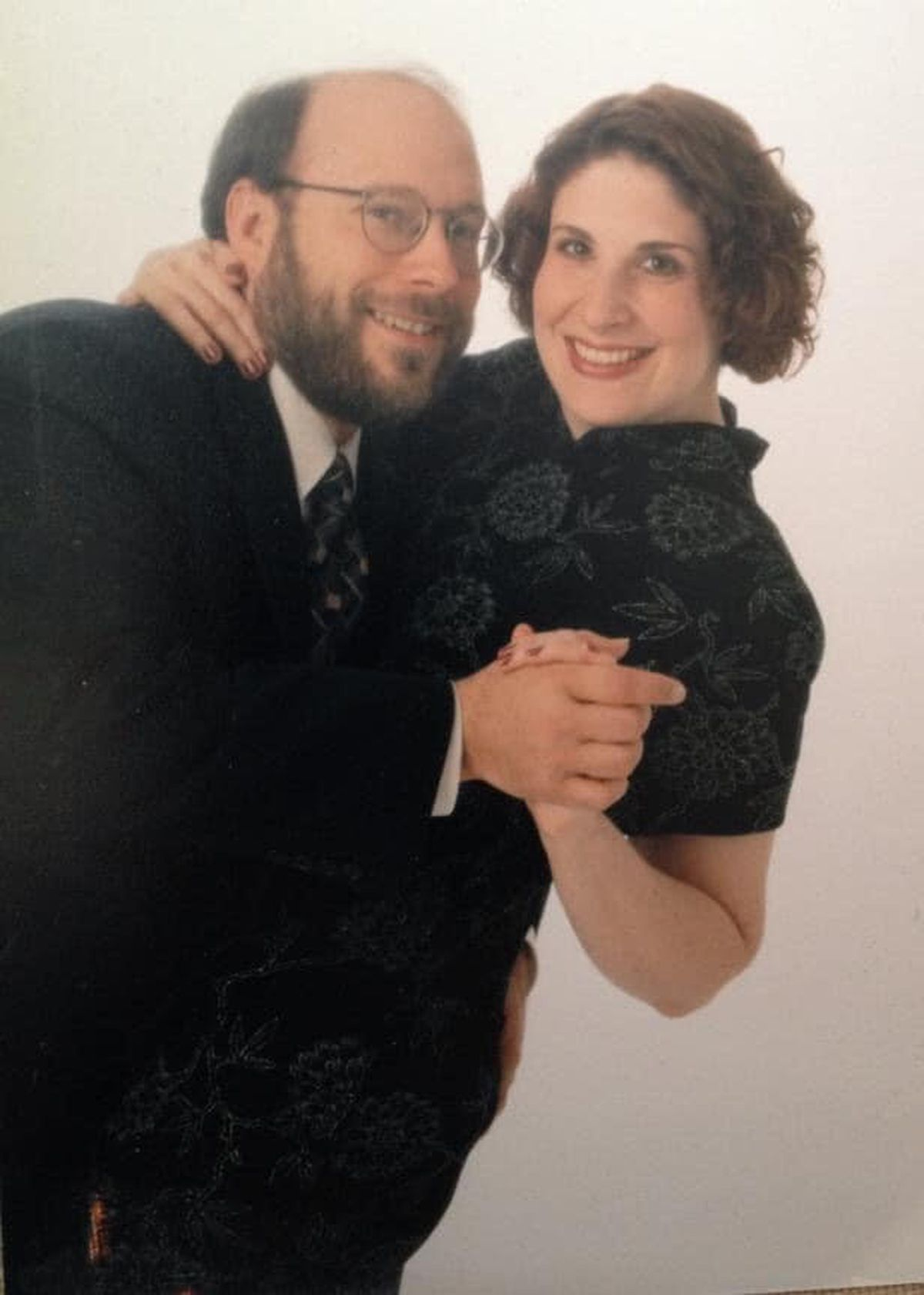 Stacy and Jeff Oliver when they got engaged.