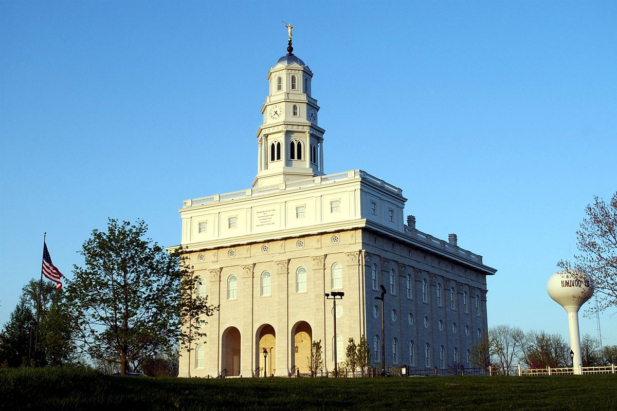 The Nauvoo Temple at sunset on Monday April 29, 2002.