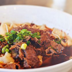 Spicy Hunan Beef Noodles at Noodles King by R. E. ~