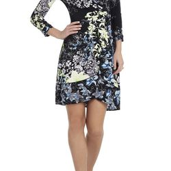 """The wrap dress is the unsung hero of the weekday work-to-party transition. The floral motif on this one works well for spring. $178 at <a href=""""http://www.bcbg.com/Adele-Printed-Wrap-Dress/WIJ6W099-003,default,pd.html?dwvar_WIJ6W099-003_color=003&cgid=dre"""