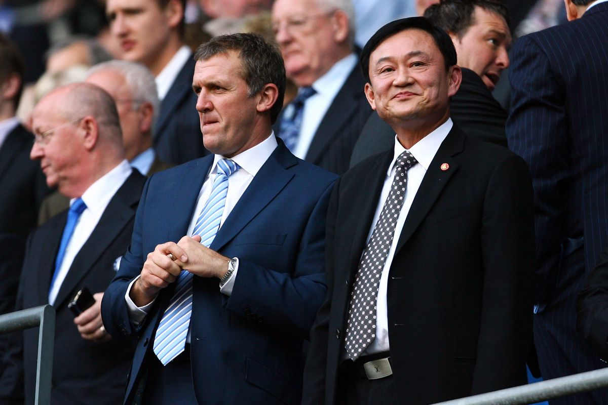 Former Thai PM Thaksin Frank Shinawatra Takes Control Of Blues Photo By Alex Livesey Getty Images