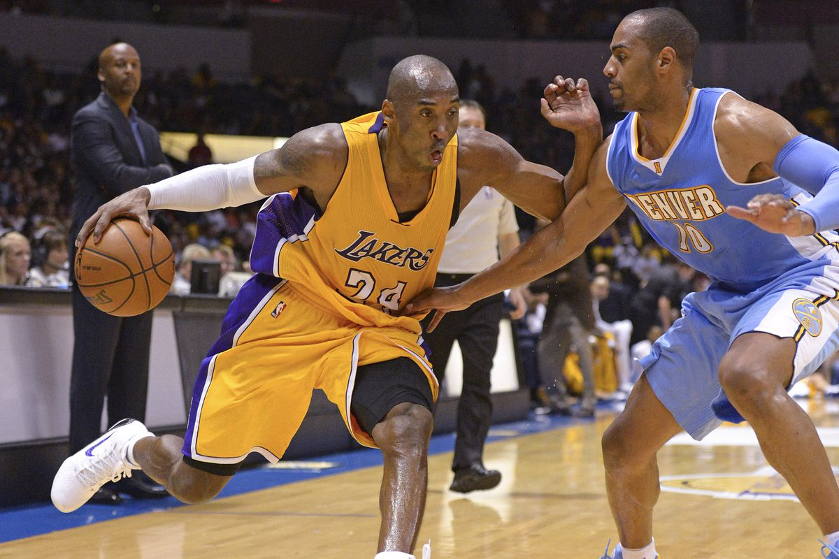 Arron Aflalo intensely guards future Hall of Famer, Kobe Bryant
