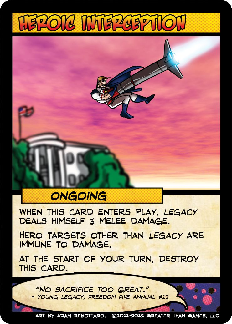 A caped hero catches a missile headed for the White House.