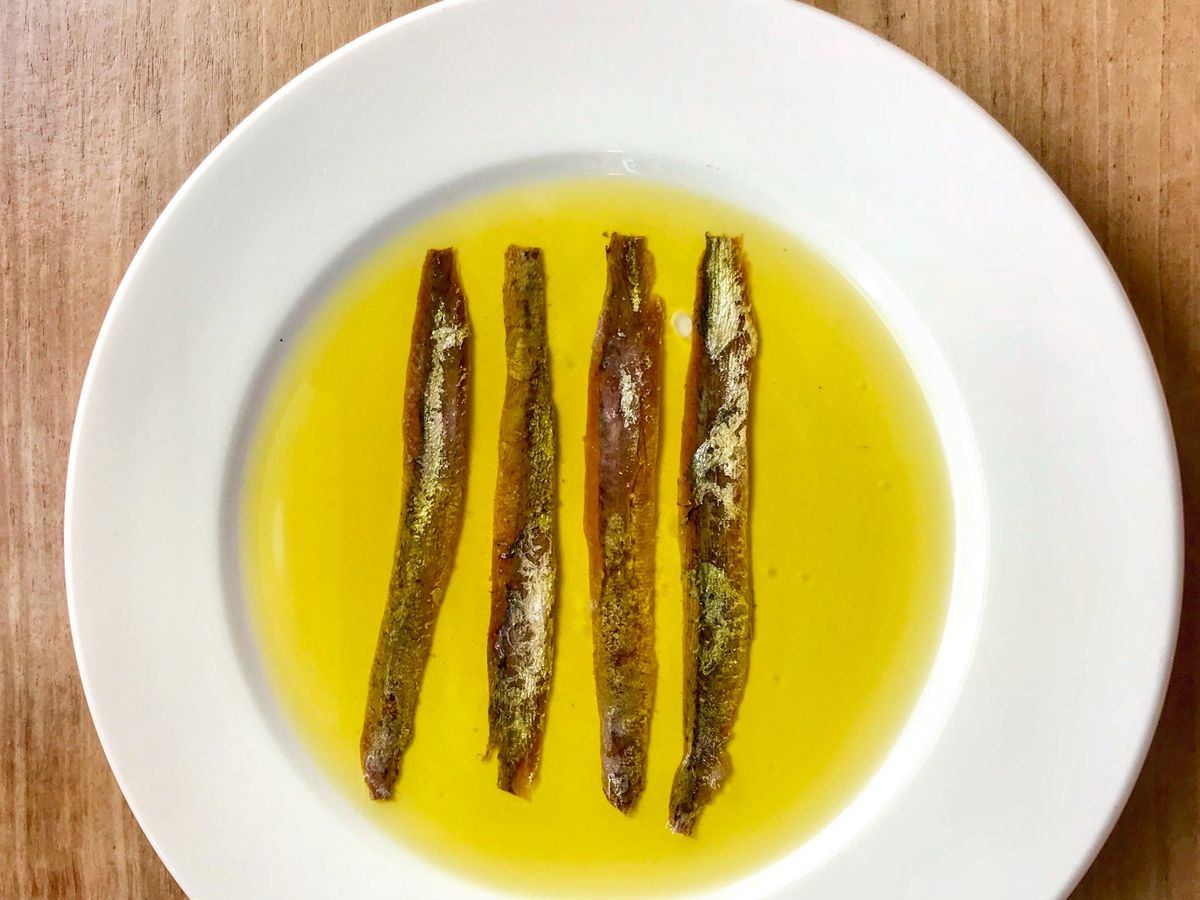 Anchovies in oil at Brawn on Columbia Road.