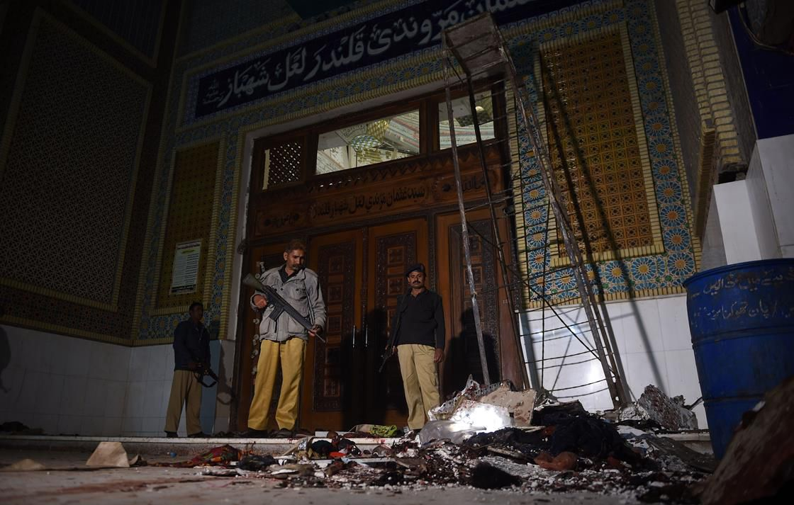 aftermath of an ISIS bombing in Pakistan