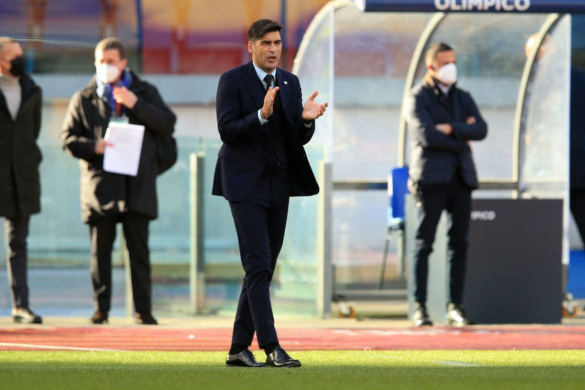Coach Paulo Fonseca (Roma) during the Serie A Tim match...