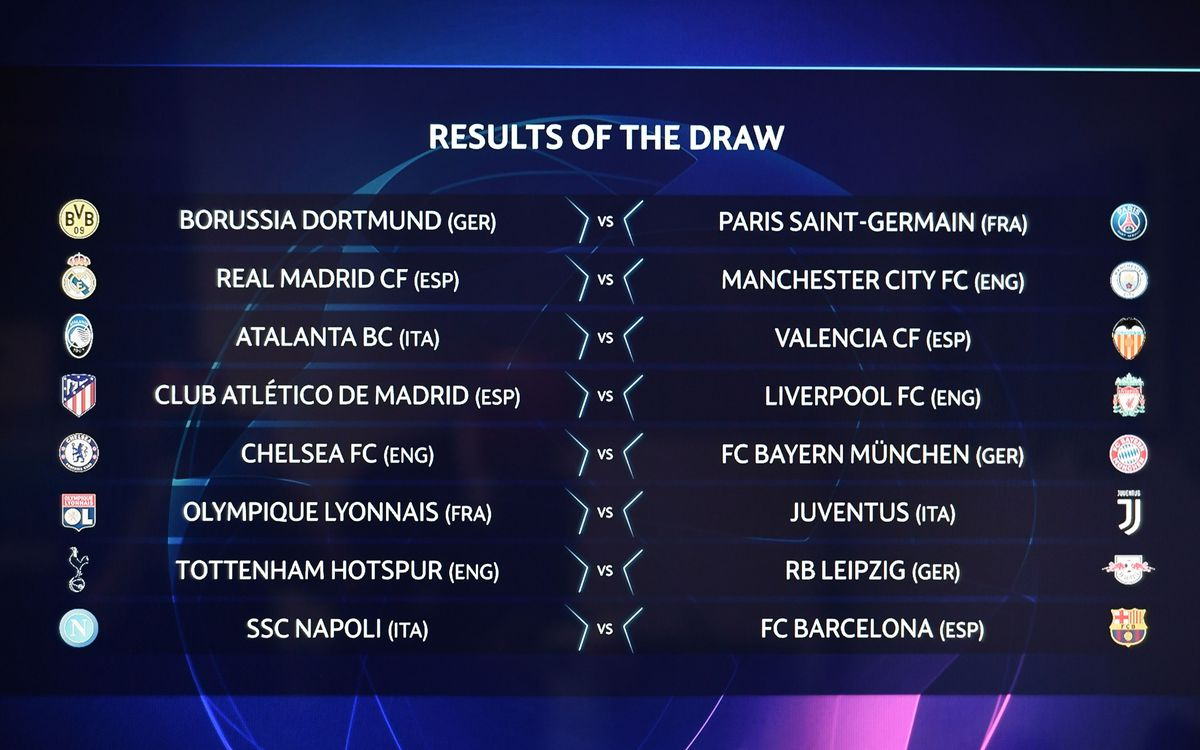 UCL draw match-ups