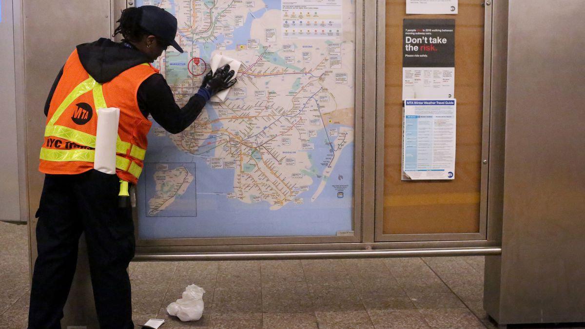 MTA Cleans Subway Stations As More Coronavirus Cases Confirmed In New York City Area