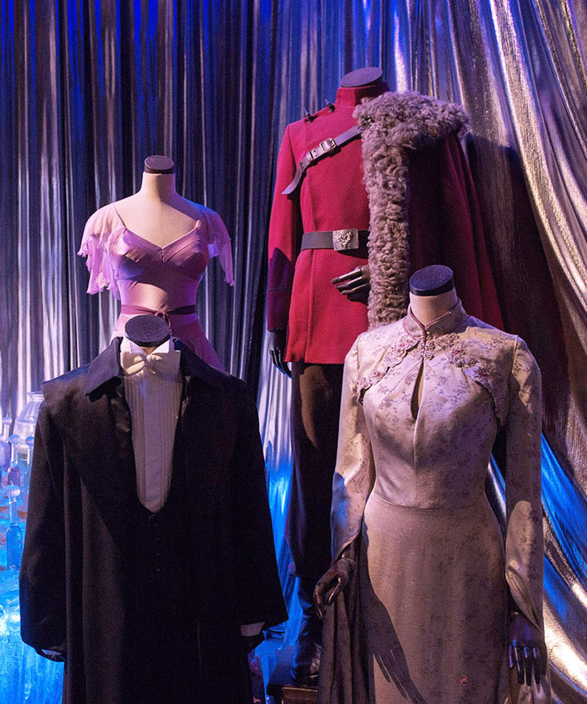 Looks from Wizarding Wardrobes, the upcoming Harry Potter costume exhibit at the Warner Bros. Studio Tour London.