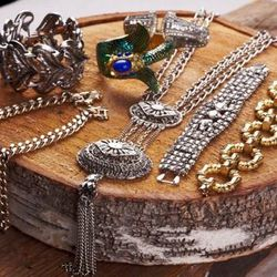 Assorted vintage jewelry ($48 to $150) from Brooklyn Bleu
