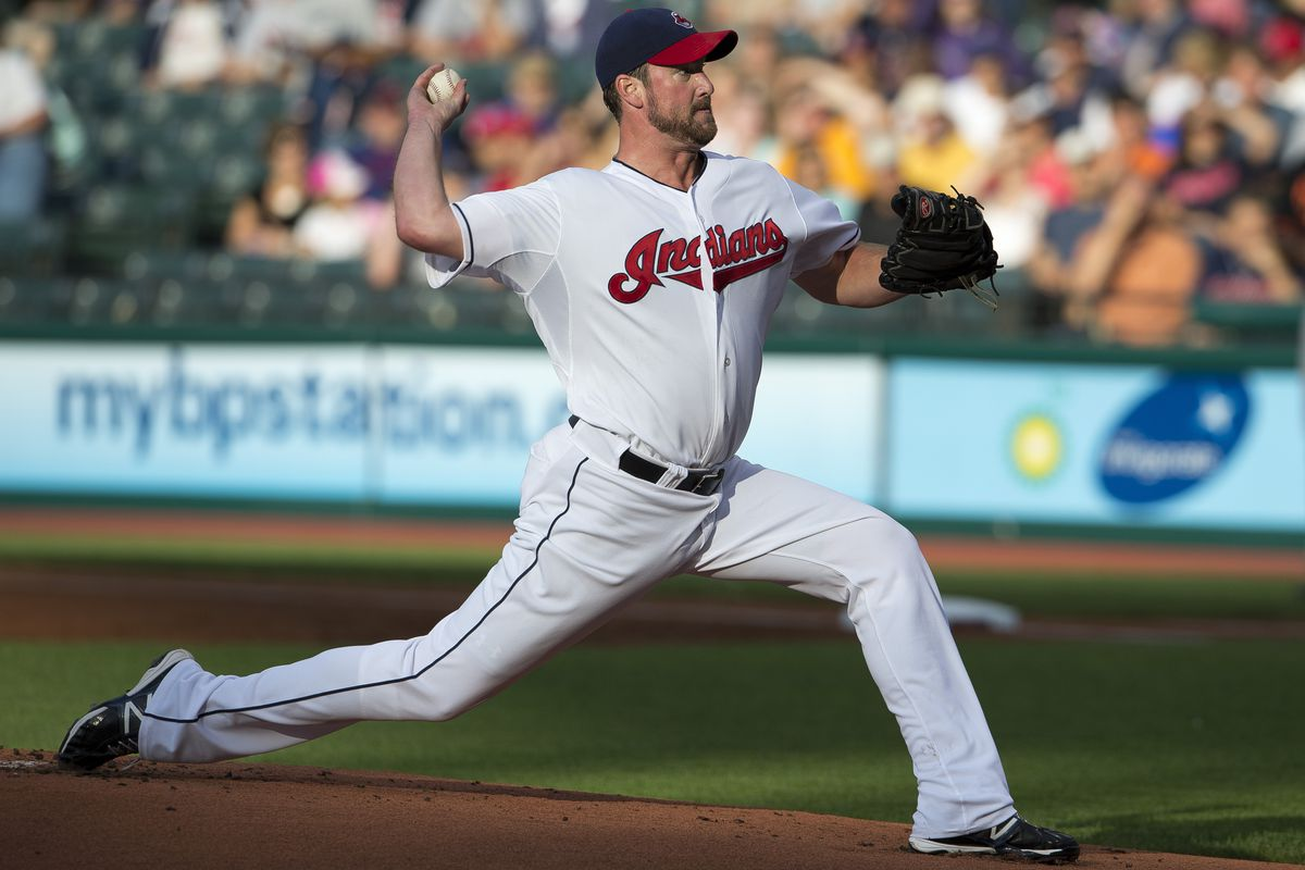CLEVELAND, OH - JULY 20: Starting pitcher Derek Lowe #26 of the Cleveland Indians pitches during the first inning against the Baltimore Orioles at Progressive Field on July 20, 2012 in Cleveland, Ohio. (Photo by Jason Miller/Getty Images)