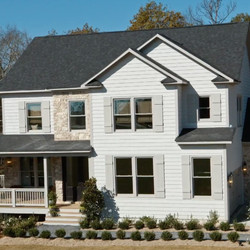 """The front of the home designed by Alison Victoria and Mike Holmes for the second season of """"Rock the Block."""""""