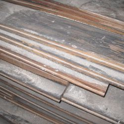 Wood that will be used for flooring.