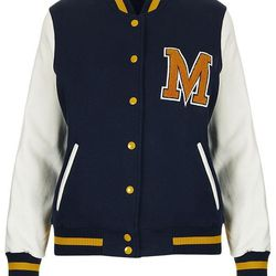 """Whether or not you dated a quarterback in high school, a varsity jacket is an adorably retro throwback to high school days. $70 at <a href=""""http://us.topshop.com/webapp/wcs/stores/servlet/ProductDisplay?beginIndex=41&viewAllFlag=&catalogId=33060&storeId=1"""
