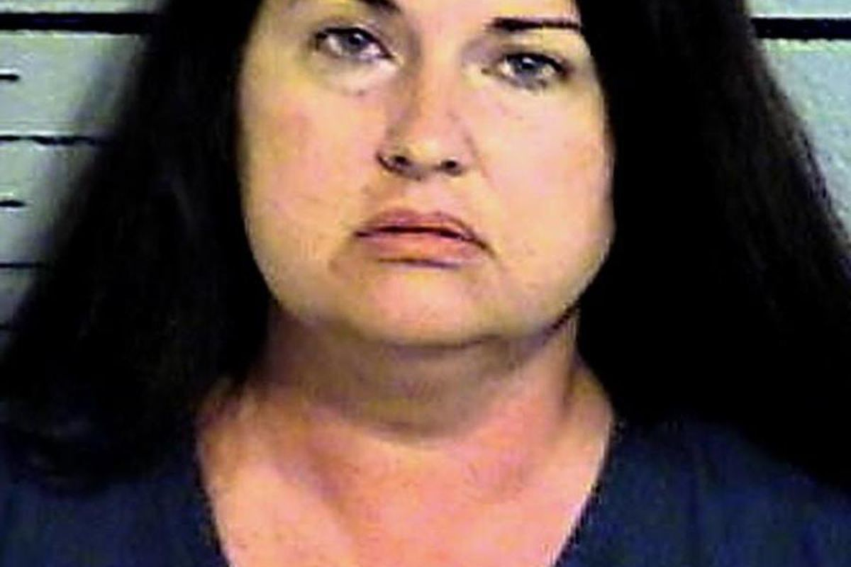 Stephanie Dawn Payan, 41, was arrested Wednesday, Aug. 2, 2017, for investigation of murder after police say she shot her boyfriend, Guy Wells Mecham, 51, in the back as he was trying to leave.