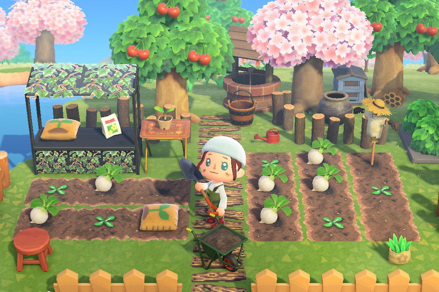 animal crossing little flowers design