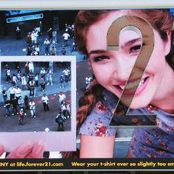 """July: Forever 21's <a href=""""http://ny.racked.com/archives/2010/07/19/forever_21_doles_out_model_kisses_and_rejections_in_times_square.php"""" rel=""""nofollow"""">interactive billboard</a> might be the best one this year."""