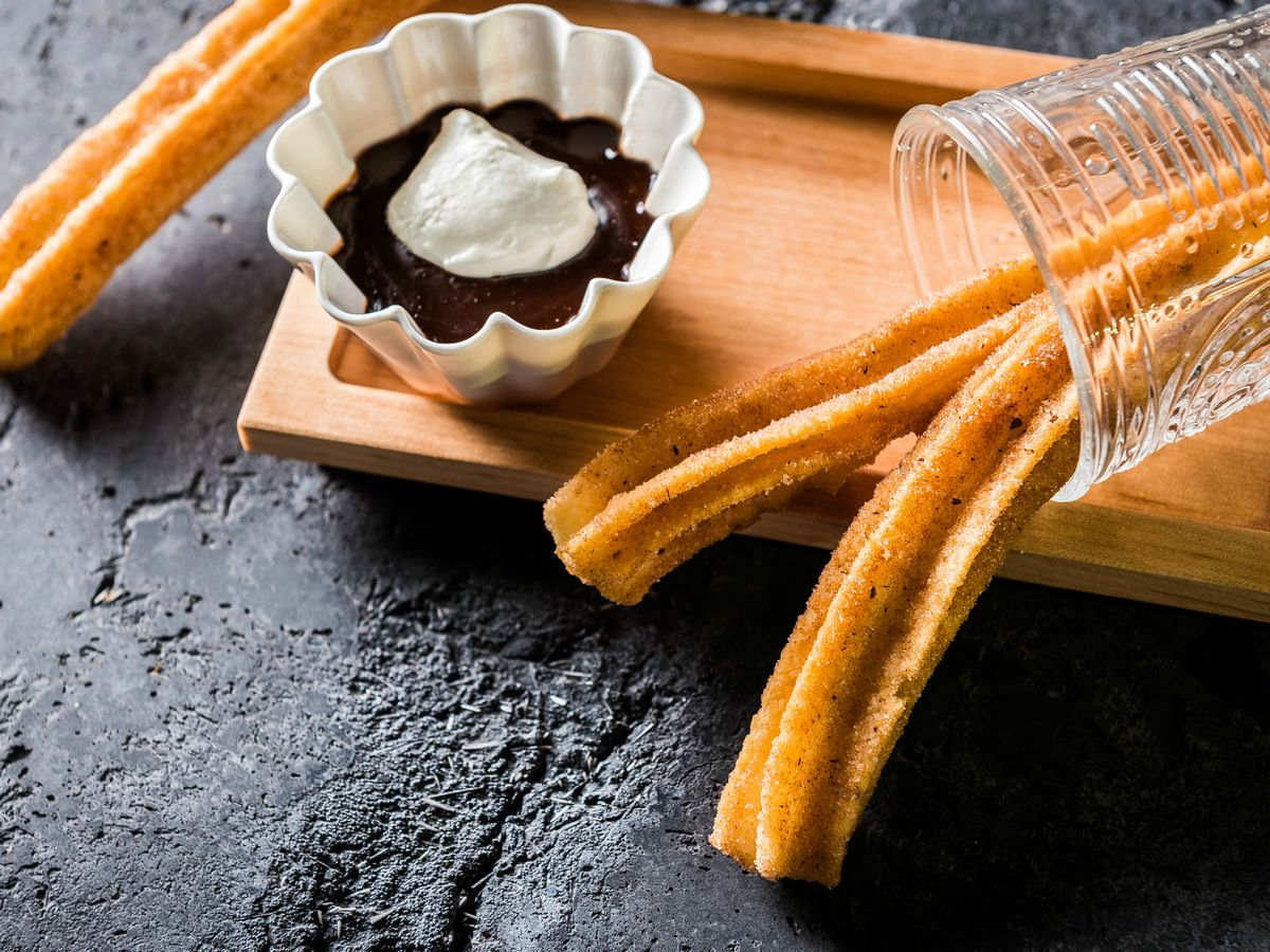 Churros from Mi Vida with a bittersweet chocolate sauce