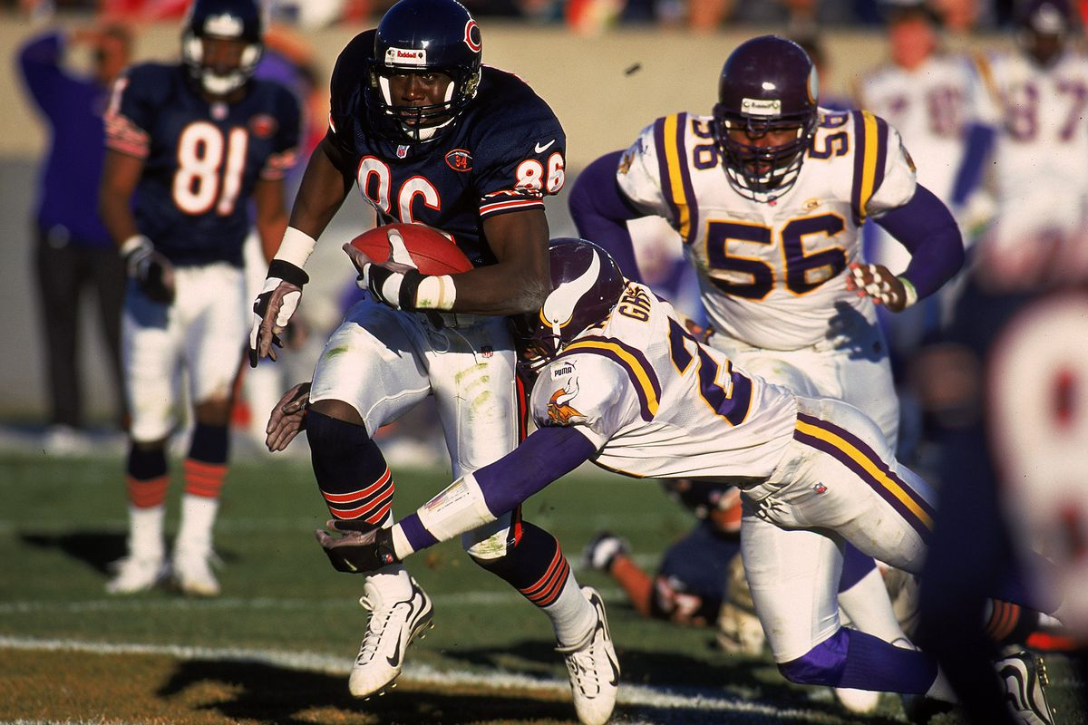 Marty Booker takes on the Vikings back in the day
